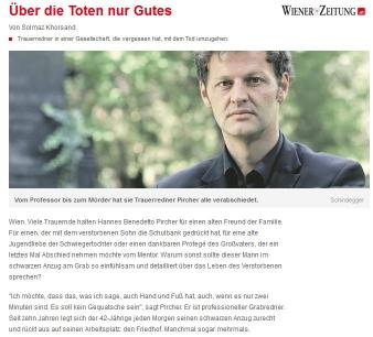 Bestattung Unvergessen Trauerredner Bild Wiener Zeitung